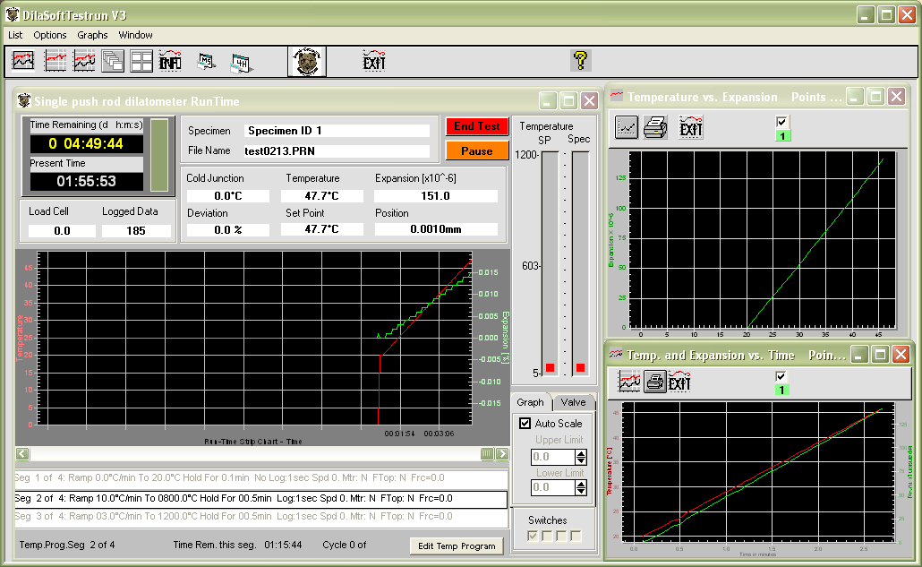 DilaSoft V3 dilatometer high temperature viscometer software